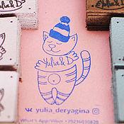 Материалы для творчества ручной работы. Ярмарка Мастеров - ручная работа Штамп, именная печать, лого, стэмпинг, штамп на заказ. Handmade.