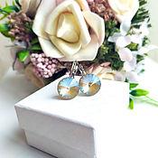 Earrings handmade. Livemaster - original item Earrings with Swarovski crystals. Handmade.