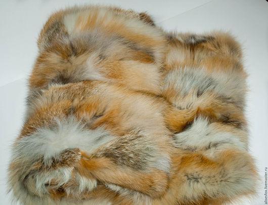 Текстиль, ковры ручной работы. Ярмарка Мастеров - ручная работа. Купить Покрывало из меха лисы. Handmade. Меховая накидка, интерьер