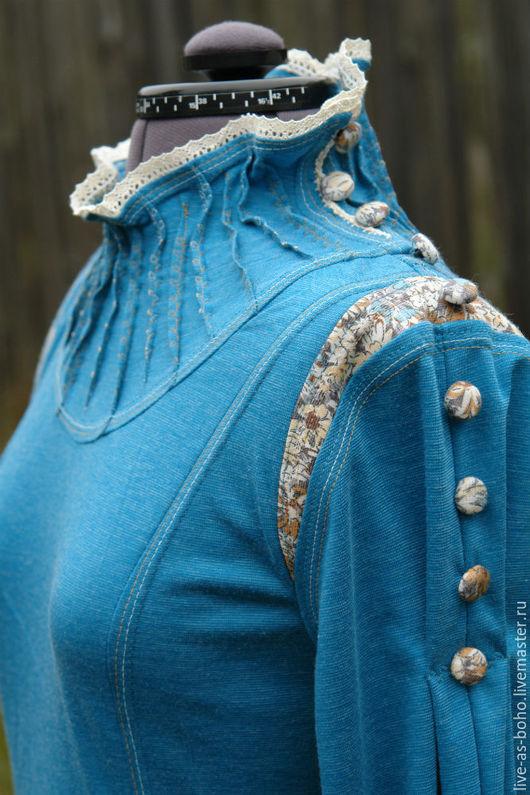 """Платья ручной работы. Ярмарка Мастеров - ручная работа. Купить платье """"Времена года"""". Handmade. Тёмно-бирюзовый, палантин с вышивкой"""