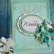 """Свадебный салон ручной работы. Ярмарка Мастеров - ручная работа Свадебная открытка """"Tiffany"""". Handmade."""
