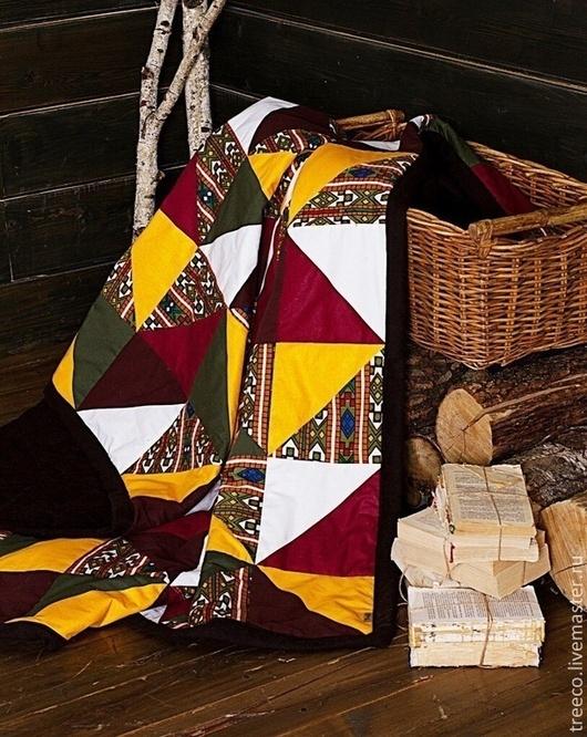 Текстиль, ковры ручной работы. Ярмарка Мастеров - ручная работа. Купить Лоскутное одеяло дачное  200х220. Handmade. Коричневый