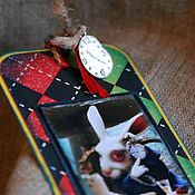 """Канцелярские товары ручной работы. Ярмарка Мастеров - ручная работа Закладка из коллекции  """"Аlice in wonderland"""" ( № 2). Handmade."""