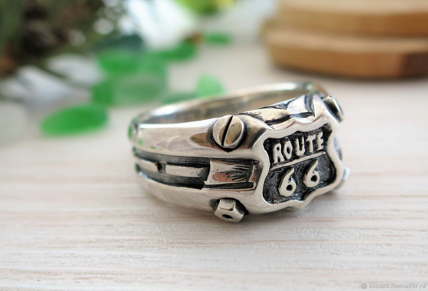 route 66 signet ring for men, Ring, Zaporozhye,  Фото №1