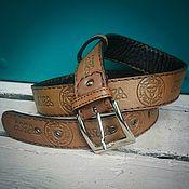 Аксессуары handmade. Livemaster - original item Men`s belt