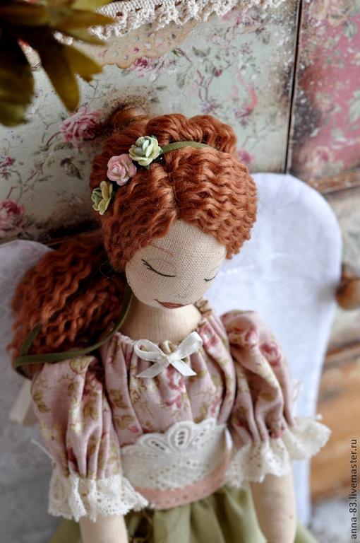 Коллекционные куклы ручной работы. Ярмарка Мастеров - ручная работа. Купить Ангел - хранительница домашнего очага. Handmade. Ангел, рыжий