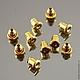 Заглушки зажимы для сережек гвоздиков и сережек пуссет силиконовые металлической оболочке с покрытием под золото