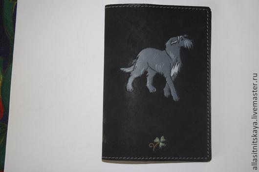 """Аксессуары для собак, ручной работы. Ярмарка Мастеров - ручная работа. Купить обложка на ветпаспорт """"Ирландский волкодав"""". Handmade. Черный"""