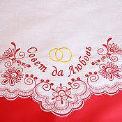 Свадебный салон ручной работы. Ярмарка Мастеров - ручная работа Хлебосольный свадебный рушник, модель 48. Handmade.