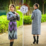 "Одежда handmade. Livemaster - original item Wool Elegant Coat ""Simple geometry"". Handmade."