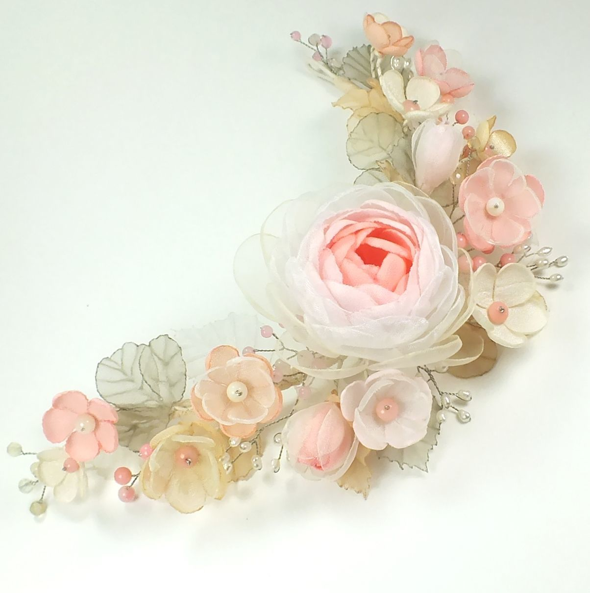 Breeze of Paradise island. The ornament for the hair. handmade flowers, Tiaras, St. Petersburg,  Фото №1