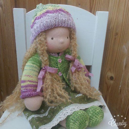 Вальдорфская игрушка ручной работы. Ярмарка Мастеров - ручная работа. Купить Наденька 43 см. Вальдорфская кукла. Handmade. Зеленый