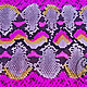 Шитье ручной работы. Заказать Кожа питона (шкура)  радуга розовая спинка лак. SnakeStyle (sonyart). Ярмарка Мастеров.