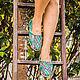 Обувь ручной работы. Эспадрильи из натуральной кожи питона ( внутри - натуральная кожа ). Maria. Ярмарка Мастеров.