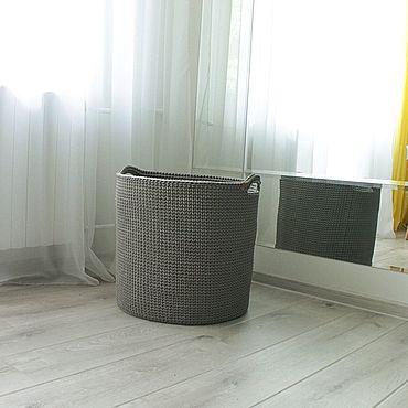 Для дома и интерьера ручной работы. Ярмарка Мастеров - ручная работа Корзины: Вязаная корзина для хранения, размер M. Handmade.