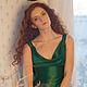 Платья ручной работы. Зеленое вечернее платье в пол. Ксения Gleamnight. Интернет-магазин Ярмарка Мастеров. Однотонный, платье на выпускной