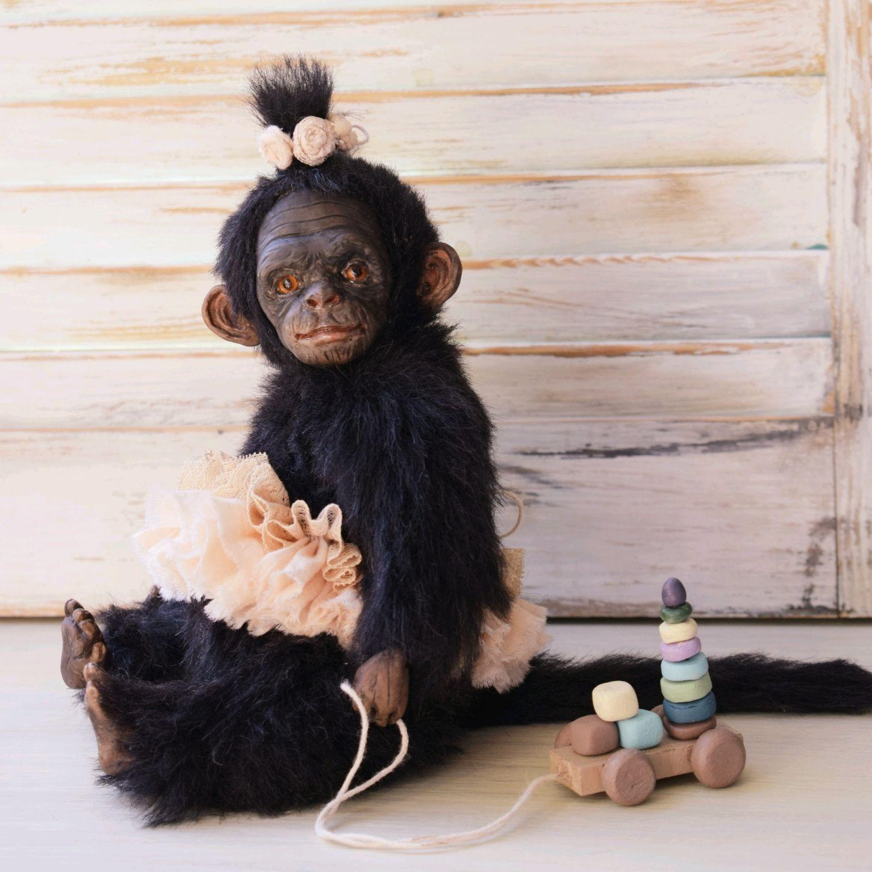 Teddy monkey Rita, Teddy Toys, Nizhny Novgorod,  Фото №1