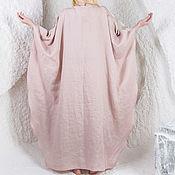 Одежда ручной работы. Ярмарка Мастеров - ручная работа Льняное платье / LD0014 - пепельно-розовый. Handmade.