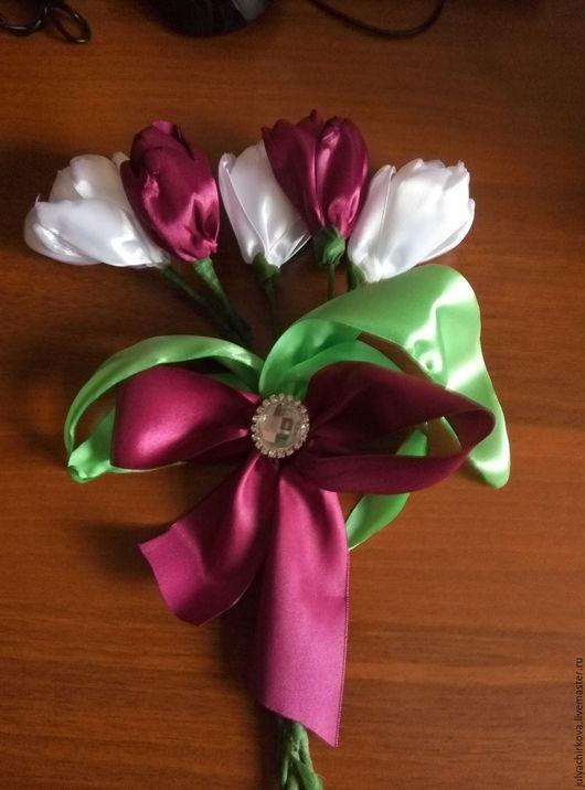 Персональные подарки ручной работы. Ярмарка Мастеров - ручная работа. Купить Букет тюльпанов. Handmade. Комбинированный, букет цветов