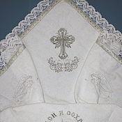 Работы для детей, handmade. Livemaster - original item Baptismal Terry cloth diaper. Handmade.