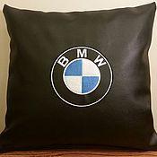 Сувениры и подарки ручной работы. Ярмарка Мастеров - ручная работа BMW логотип подушка. Handmade.