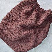Аксессуары handmade. Livemaster - original item Snood with braids, the color of the light Marsala. Handmade.