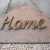 """Для дома и интерьера ручной работы. Ярмарка Мастеров - ручная работа Панно-вывеска """"HOME"""". Handmade."""