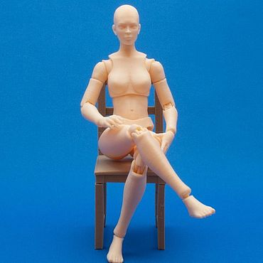 Dolls & toys handmade. Livemaster - original item Articulated doll Jointed Woman figure articulated toy. Handmade.