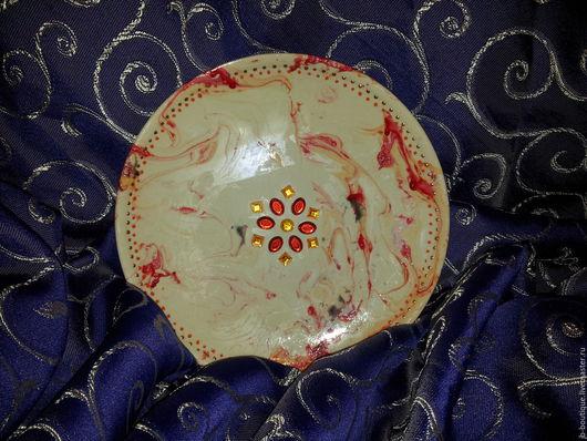 Декоративная посуда ручной работы. Ярмарка Мастеров - ручная работа. Купить Тарелка декоративная. Handmade. Тарелка декоративная, Керамика