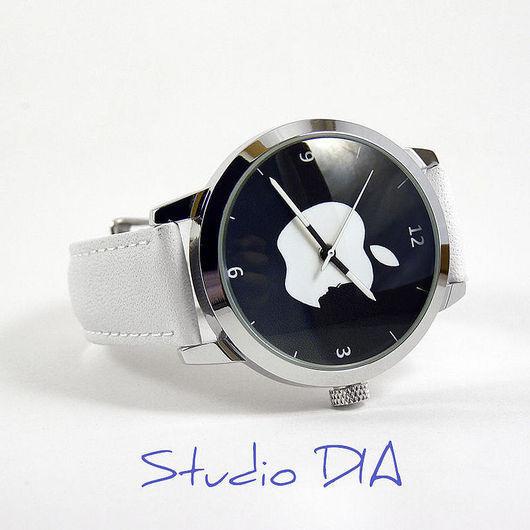 Оригинальные Дизайнерские Часы С Логотипом Apple (Профиль Джобса). Студия Авторских Часов DIA
