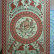 Русский стиль ручной работы. Ярмарка Мастеров - ручная работа Доска пирожковая (мезенская роспись). Handmade.