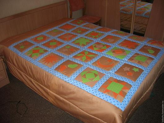 Текстиль, ковры ручной работы. Ярмарка Мастеров - ручная работа. Купить Лоскутное покрывало На даче у камина. Handmade. из лоскутов