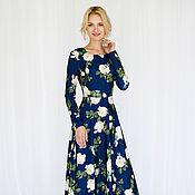 """Одежда ручной работы. Ярмарка Мастеров - ручная работа Платье """" Синие розы """". Handmade."""