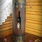 """Подарки ручной работы. Ярмарка Мастеров - ручная работа Короб для вина """"Золотой орнамент"""". Подарок на любой случай. Handmade."""