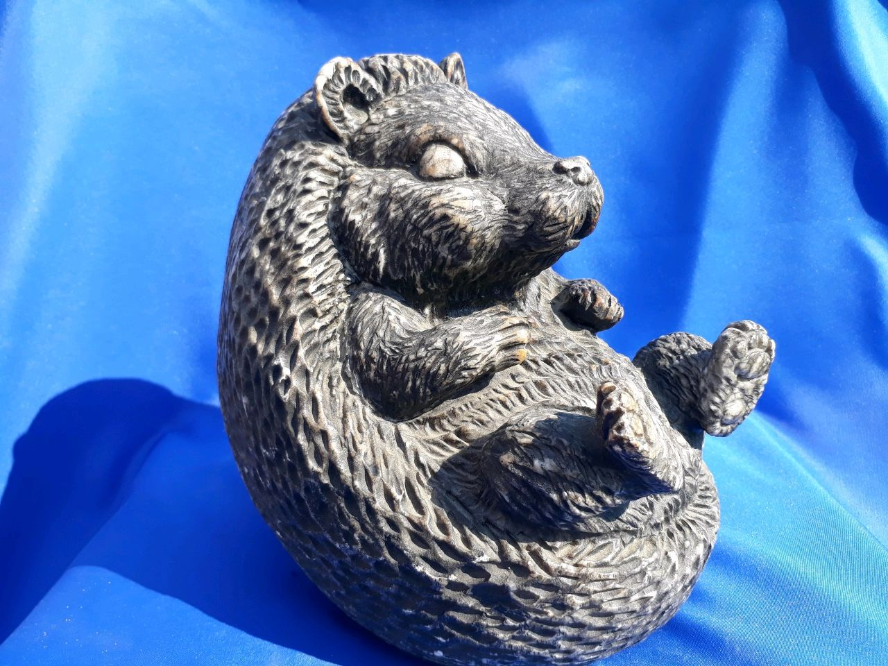 Sculpture of natural Ural ornamental stone Calcite Hedgehog, Figurines, Horde,  Фото №1