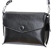 Классическая сумка ручной работы. Ярмарка Мастеров - ручная работа Женская черная кожаная сумка М572. Handmade.