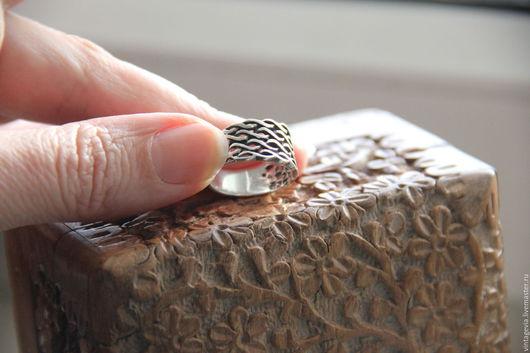 Vintage Via. Кольцо `Сеть для серебряной рыбки`, серебро, винтаж, ручная работа