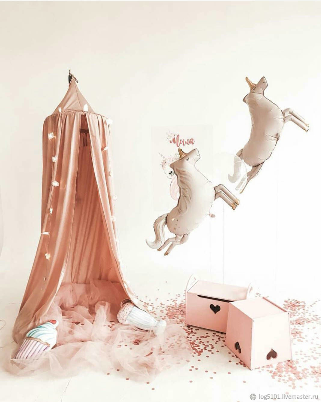 Dusty rose canopy / children's Tent, Canopy for crib, Moscow,  Фото №1