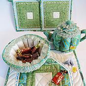"""Для дома и интерьера ручной работы. Ярмарка Мастеров - ручная работа Чайный комплект """"А у нас в саду цветочки"""" 2. Handmade."""