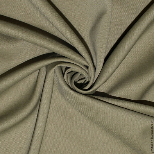 Шитье ручной работы. Ярмарка Мастеров - ручная работа. Купить Шерсть плательно-костюмная  Vivienne WESTWООD хаки. Handmade.