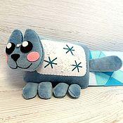 Куклы и игрушки handmade. Livemaster - original item Ice Cat mini, soft toy nyashny cat Nyan Cat nyankat. Handmade.
