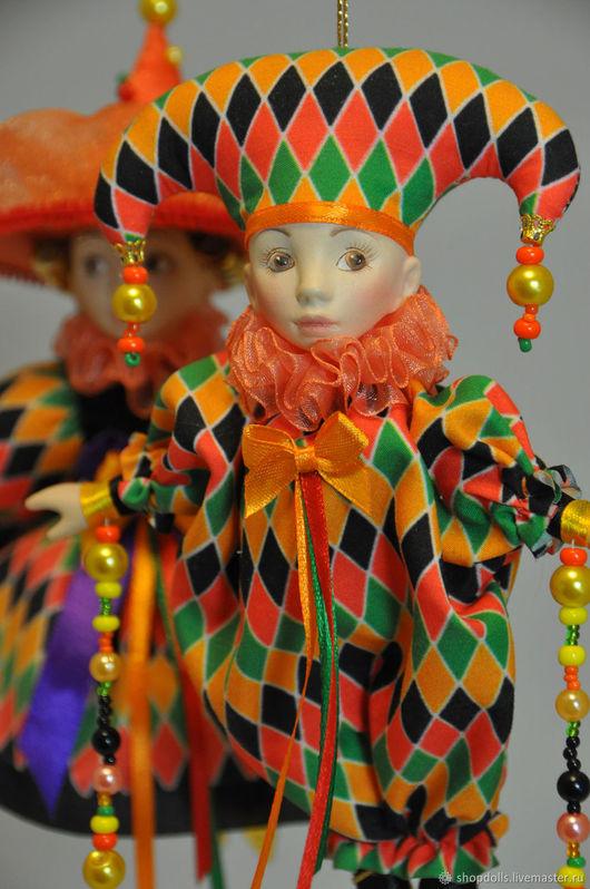 . Ярмарка Мастеров - ручная работа Арлекин и коломбина ромбик. Handmade.