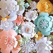Свадебный салон ручной работы. Ярмарка Мастеров - ручная работа Панно из  больших бумажных цветов. Handmade.