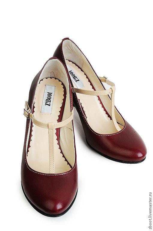Обувь ручной работы. Ярмарка Мастеров - ручная работа. Купить Туфли Etna. Handmade. Бордовый, туфли ручной работы, кожа