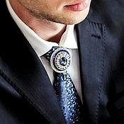 Украшения handmade. Livemaster - original item Osman tie brooch. Color Blue Montana. jewelry for men.. Handmade.