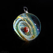 Украшения handmade. Livemaster - original item Pendant ball Cosmos is listening. Universe Galaxy planet Jewelry Space. Handmade.