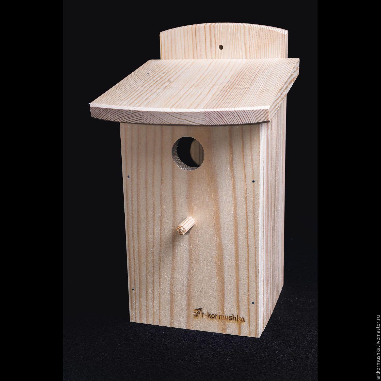 Wooden birdhouse, Chickadee nesting box, Bird feeders, Moscow,  Фото №1