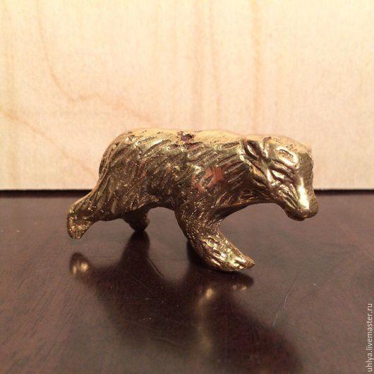 Винтажные сувениры. Ярмарка Мастеров - ручная работа. Купить Медведь латунь фигурка. Handmade. Золотой, латунь, сувенир медведь, бронза