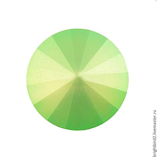 Для украшений ручной работы. Ярмарка Мастеров - ручная работа. Купить Риволи 10,12,14 мм Neon Green Matt 1122  Сваровски. Handmade.