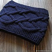 Аксессуары handmade. Livemaster - original item Knitted scarf for men with arans